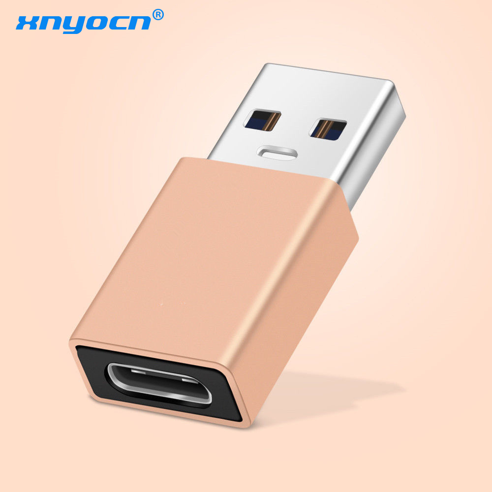 Xnyocn USB Type C To USB 2.0 Adapter USBC To USB 2.0 OTG Male Adaptores USB2.0 Converter USB C Adapters OTG Connector