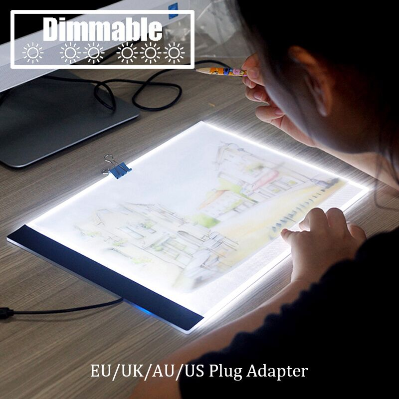 Confident Dimmable Ultra Thin A4 Led Pad Light Tablet Usb Cable Eu/uk/au/us Plug Adapter Diamond Embroidery Diamond Painting Cross Stitch Back To Search Resultshome & Garden