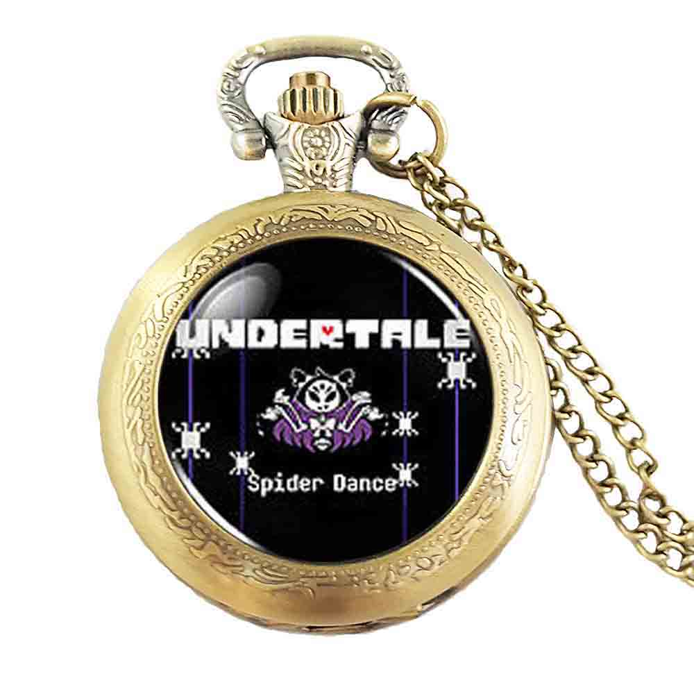 Undertale Muffet Spider Bake Game Gamer Gaming cosplay Mens Necklace Pocket watch steampunk Jewelry womens pendants mens