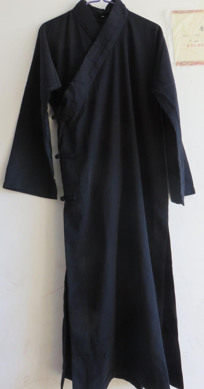 Sportbekleidung Stetig Herbst & Frühling Taoistischen Robe Taoismus Kung Fu Kleidung Kleid Bekleidung Ehelichen Arts Uniformen Anzüge Dark Blau
