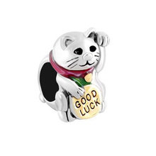 New product European and American pop charm beads Lucky cat bracelet  Fit Pandora Bracelet