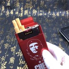 DIY Che Guevara Cigarette Case Laser Engraved Metal Cigarette Boxes