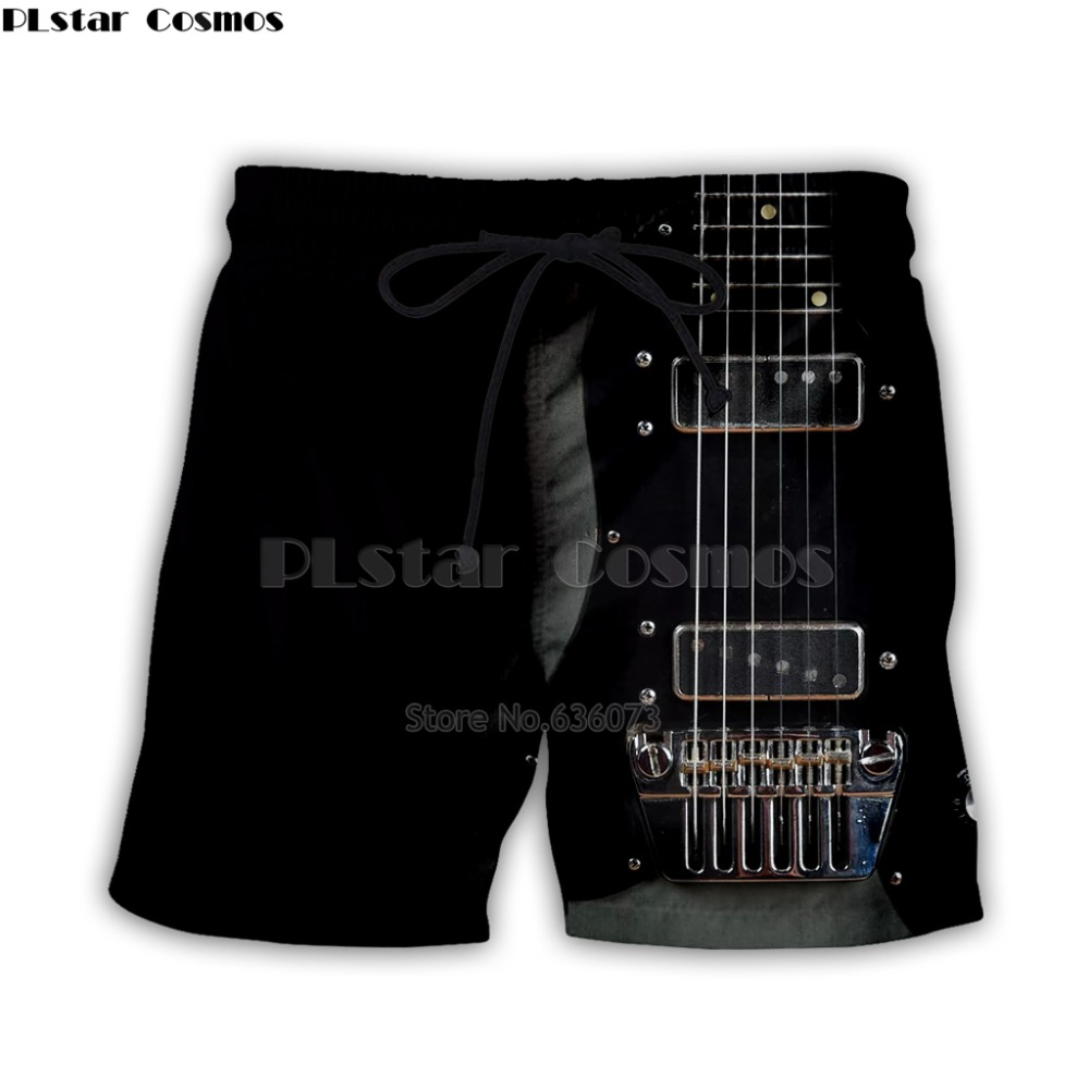 Guitar Art Musical Instrument 3d Full Printing Fashion Short Pant 3d Print Hip Hop Style Shorts Streetwear Casual Summer Style-3
