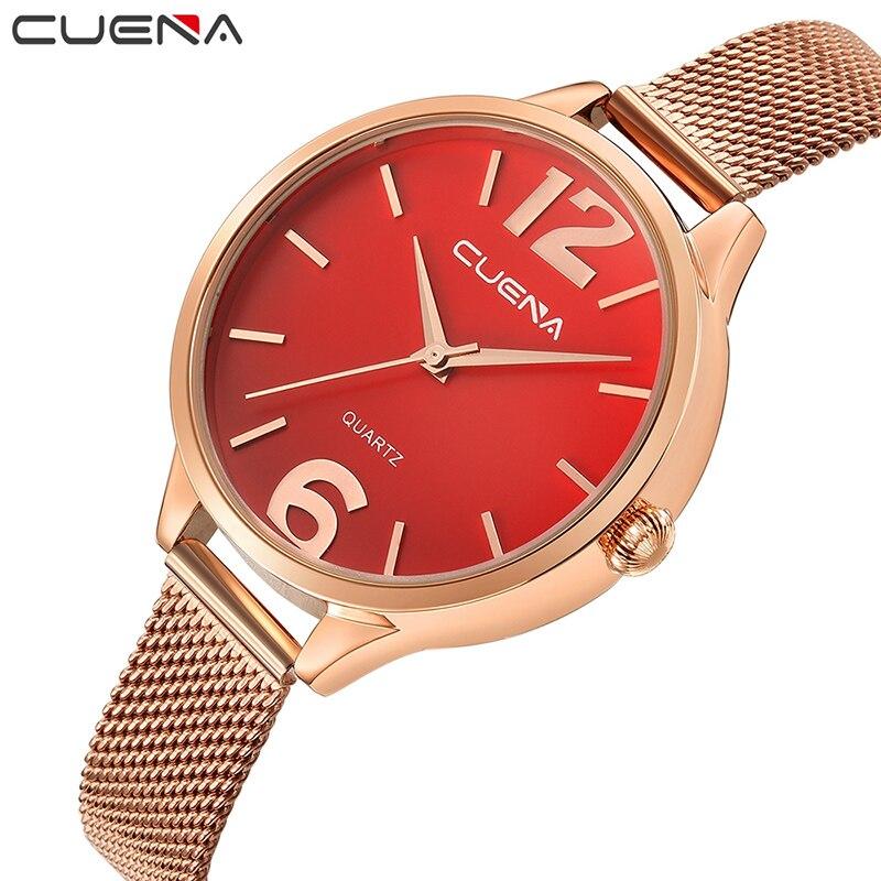 1d3ec522c57 CUENA Brand Watches Women Fashion Luxury Watch Ladies Quartz Stainless  Steel Clock Relojes Mujer Montre Femme Relogio Feminino - aliexpress.com -  imall.com