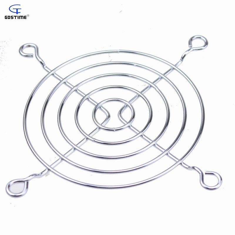 100 Pcs Gdstime 8cm Fan Iron Net Grill Protective Finger Guard Metal