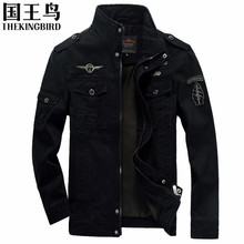 Men's jackets  Autumn And Winter  Men bomber jacket Military Aviation embroidery Large size air force one Men's Clothing M-6XL