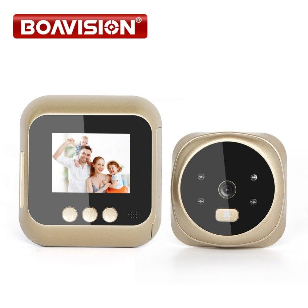 2.4 Inch TFT LCD Screen Night Vision Smart Door Bell Digital Peephole Viewer 135 Degree Door Peephole Camera