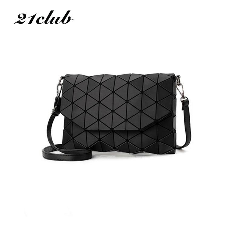 2017 new small solid plaid geometric lingge envelope handbag hotsale women clutch ladies purse crossbody messenger