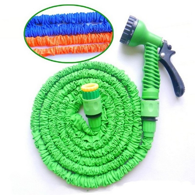 25 50 75 100FT Flexible Expanding Garden Water Hose Reel Tube Spray ...