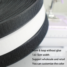 купить 12M Pair Hook and Loop fastener Tape No Glue the hooks velcros adhesive Sewing-on strips Magic tape DIY hook and loop дешево