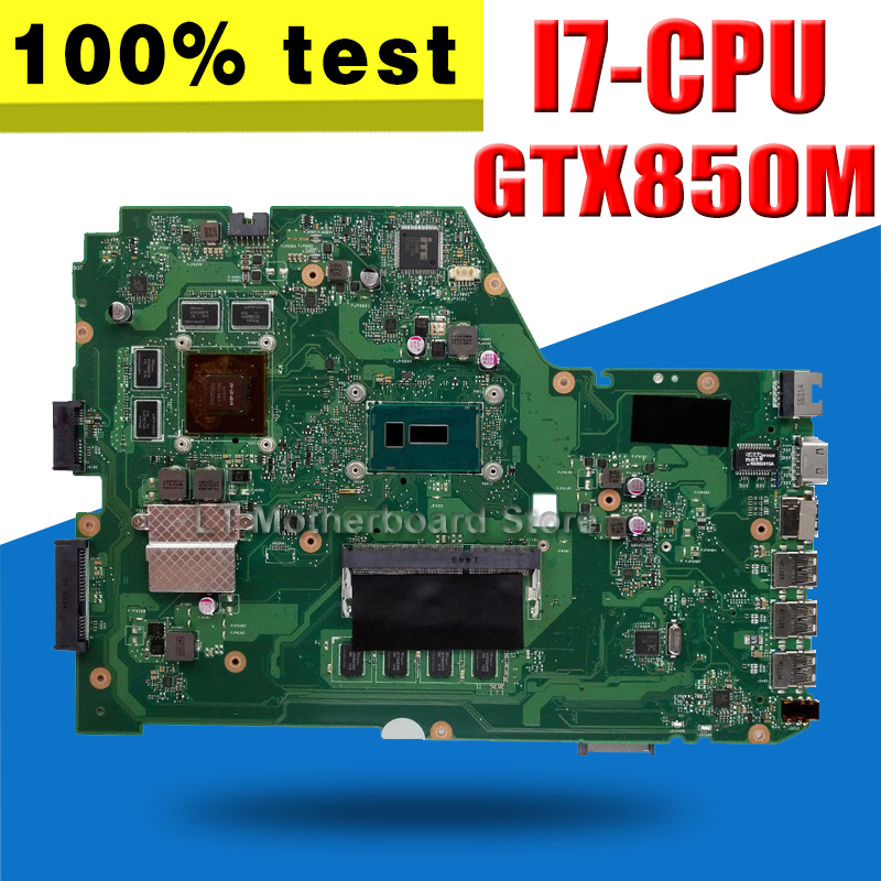 X751LK Motherboard REV:2.0 GTX850M 2GB I7-4510 For ASUS X751L X751LX Laptop motherboard X751LK Mainboard X751LK Motherboard