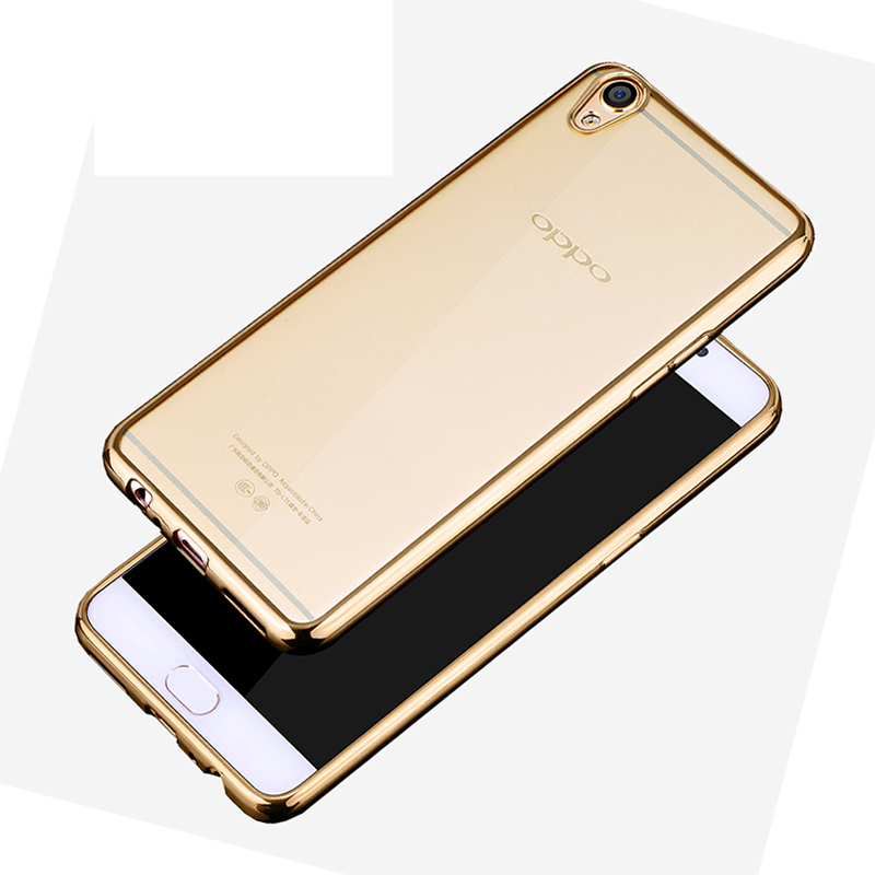 reputable site efcd2 e62d4 US $3.47 |Fashion Plating Glossy Transparent Soft Back Cover Case For OPPO  A57 A59 F1S F1plus R7 R9 R9S Plus R7s Bag-in Fitted Cases from Cellphones &  ...