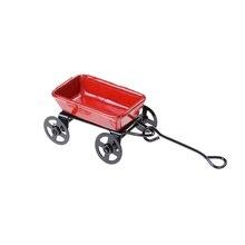 1:12 мини милый кукольный домик Миниатюрный металлический красный маленький Тяговая тележка садовая мебель аксессуары Игрушка для домашнего декора подарок орнамент