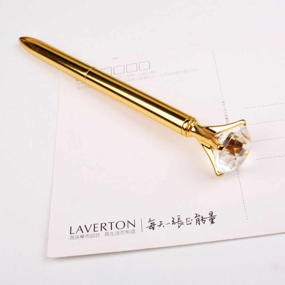 Luxe Draagbare Grote Crystal Pen Diamond Balpennen Stationery Balpen Home Office School Supplies Drop Shipping Groothandel