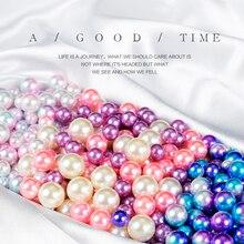 50 pièces/ensemble rose violet bleu simulé yeux de sirène perle pour la prise de Photo embellir arrière plan accessoires de photographie accessoires