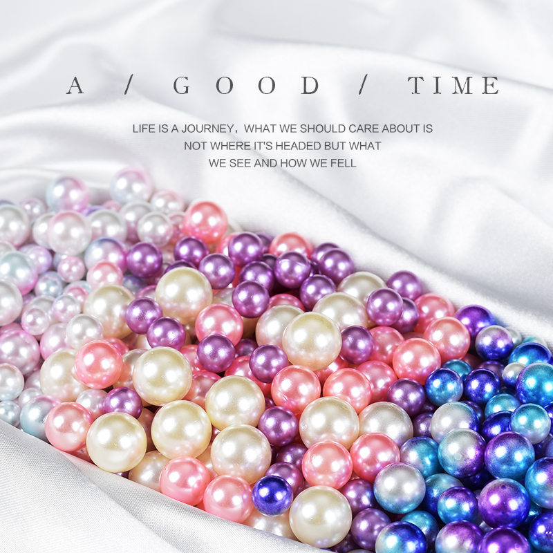 50pcs/set Pink Purple Blue Simulated Mermaid's Eyes Pearl For Photo Shooting Beautify Background Photography Accessories Props