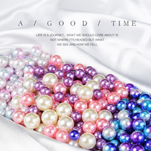 50pcs/set Pink Purple Blue Simulated Mermaid's Eyes Pearl for Photo Shooting Beautify Background Photography Accessories Props(China)