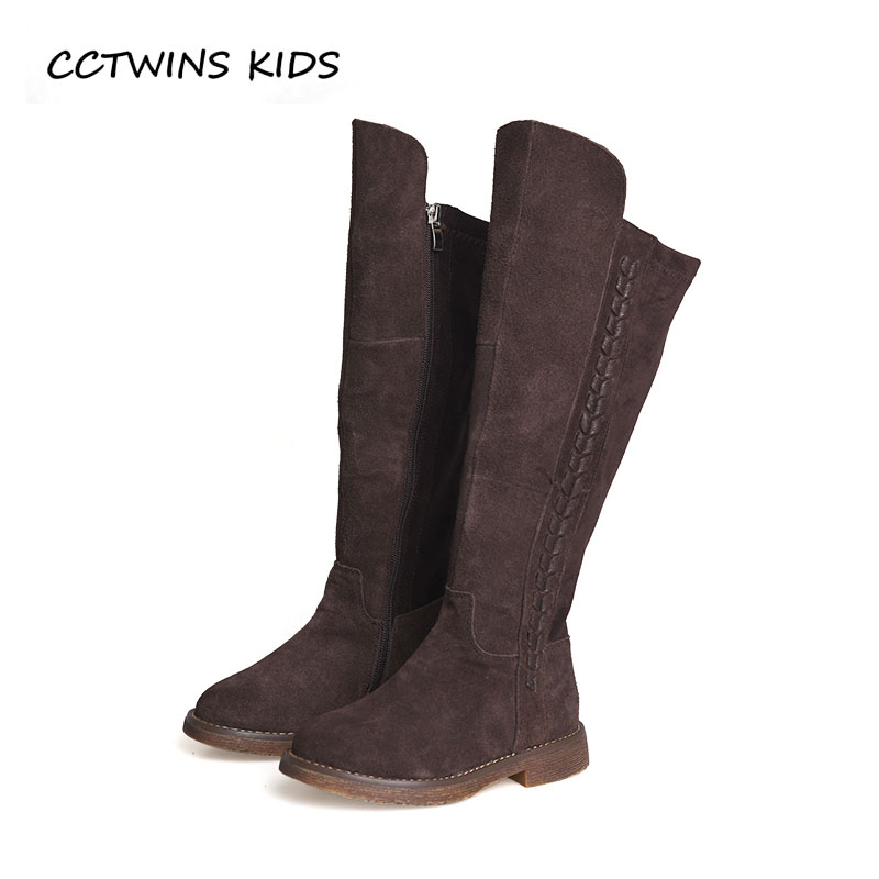 CCTWINS KIDS 2018 Autumn Children Fashion Over The Knee Boot Girl Leather Suede Boot Baby Black Brand Shoe Toddler H019 cctwins kids 2017 children brand high boot kid fashion over the knee boot baby girl toddler genuine leather black shoe c1312