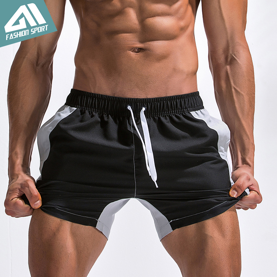 Aimpact Patchwork Men's Board Shorts 2018 Summer Holiday Fast Dry Beach Surfing Swimming Trunk Sport Running Hybird Short AM2021