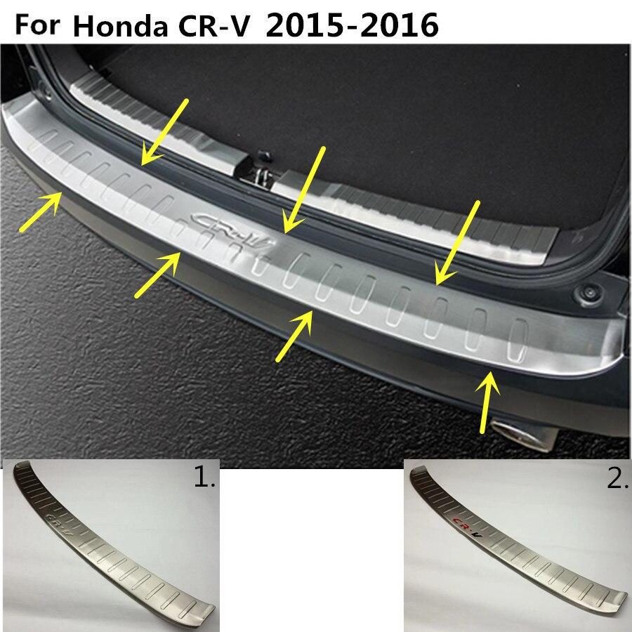 High Quality For Honda CRV CR-V 2015 2016 car body external Rear Bumper trim frame detector Stainless Steel plate pedal 1pcs