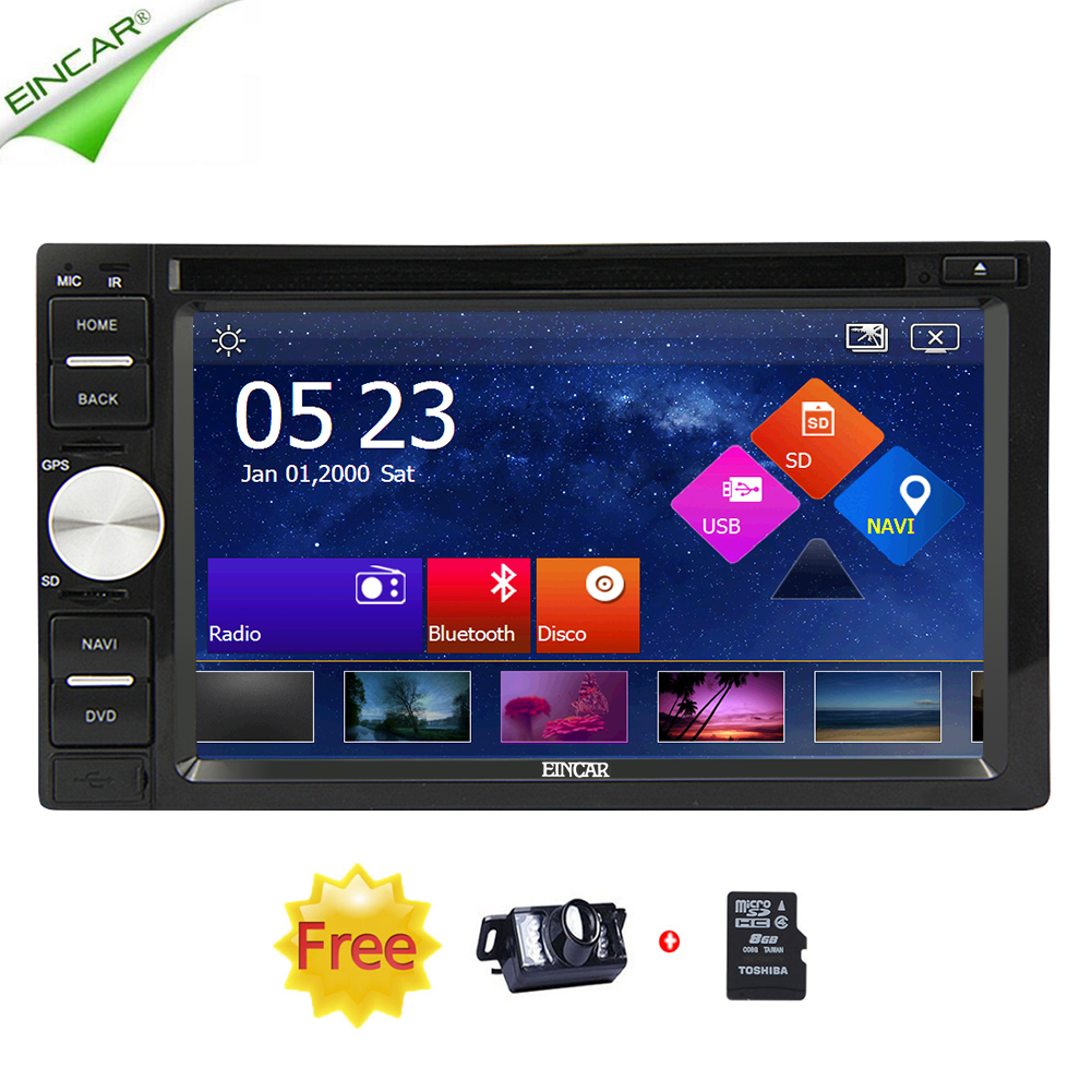 Double 2Din GPS Navi CD DVD Player Stereo 6.2 Touchscreen FM/AM/RDS Car Radio Bluetooth Subwoofer iPod SWC USD SD Music Camera