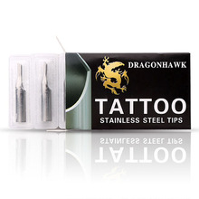 10 Pcs Sizes Lot Stainless Steel Tattoo Nozzle Tips Kit Set