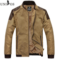 2016 PU Leather Patchwork Jacket Stander Collar Jackets Coat Men With Trench Parka Overcoat Hombre Asian Size Z2632