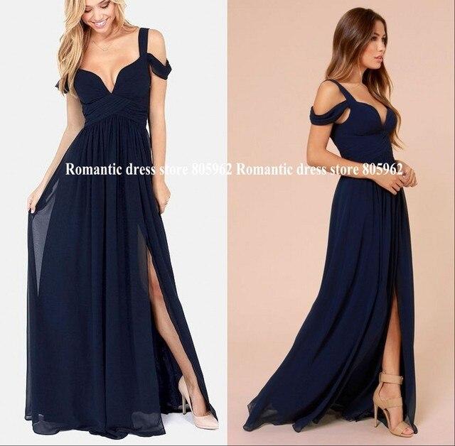 2493e7ee665376 2016 vestidos de dama de largo para el banquete de boda Una línea de vestido  de