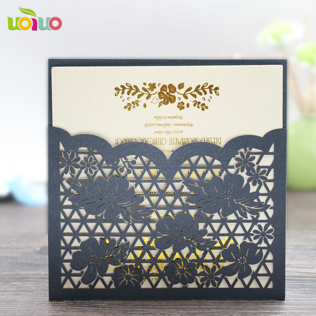 hot laser cut wedding favors english wedding invitation card chinese