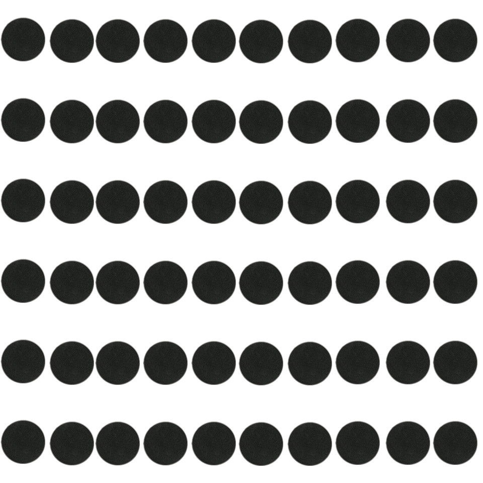 ROUND PLASTIC BASES  60mm For Gaming Miniatures Bases 60pcs