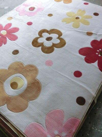 Américain beige rustique canapé table basse en trois dimensions fleurs coupées tapis 2 2.40