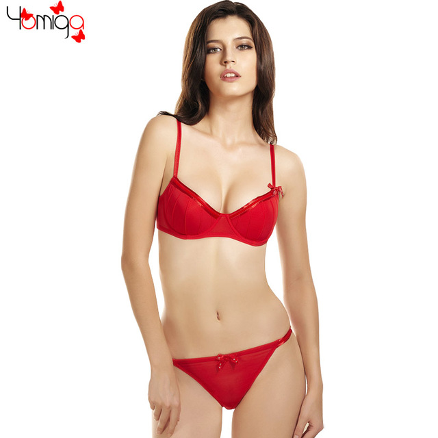 463dc157e2 2017 Summer Cheap Red Women Intimates Bra Panty Underwear Sexy Soft Bra Set  Lingerie Ladies Brand Push Up Bra
