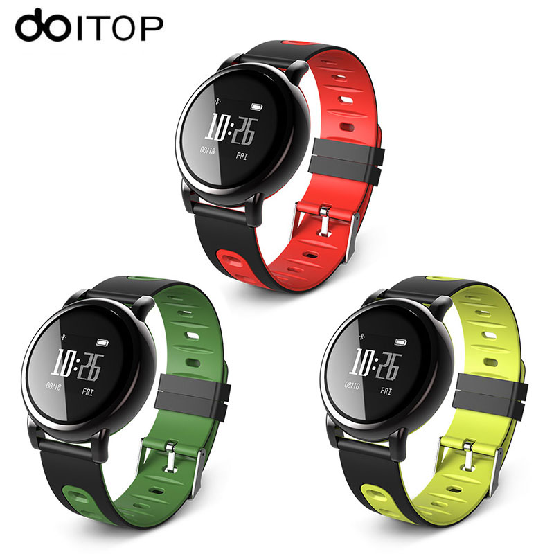 DOITOP B8 GPS Smart Bracelet Blood Pressure Heart Rate Monitor Smartband Fitness Tracker Pedometer Sports Smart Wristband Watch