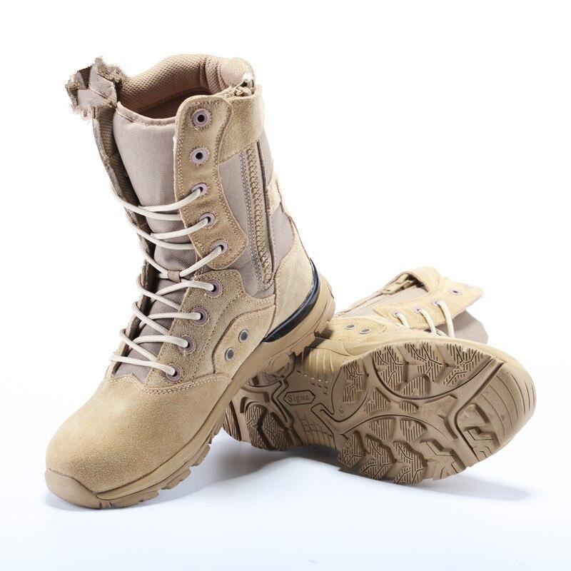 En plein air nouveau Design militaire tactique hommes vache daim désert bottes marche respirant mâle Camping escalade chaussures de randonnée