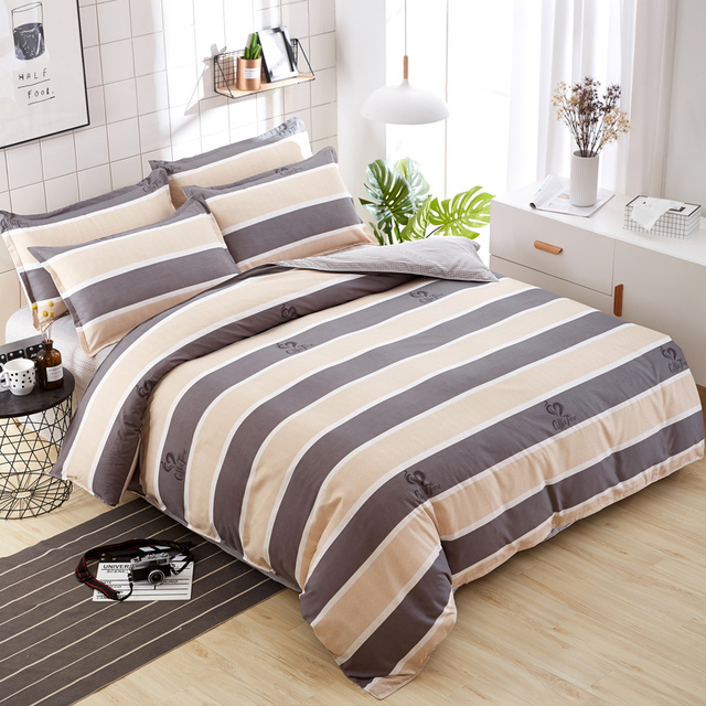 Simple Style Bedding Set High Quality Bedding Set Duvet Cover + Bed Sheet+Pillowcase  King