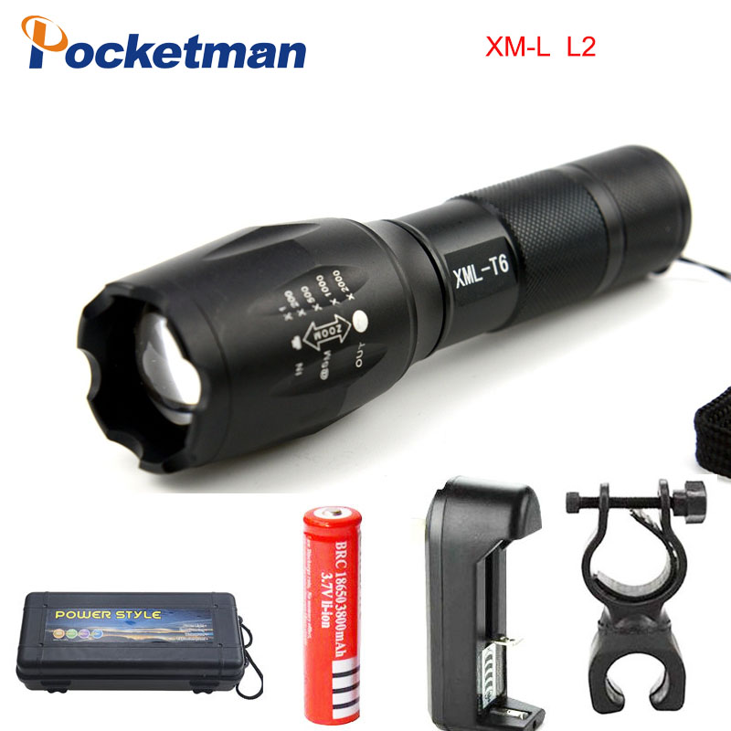 E17 CREE XM-L2 8000LM Tactical cree Led Torch Zoom cree LED Flashlight Torch light For 3xAAA or 1x 18650 Rechargeable lanterna cree xm l t6 4000lm tactical flashlight torch zoom linternas led flashlight 3xaaa or 1x 18650 rechargeable battery z45