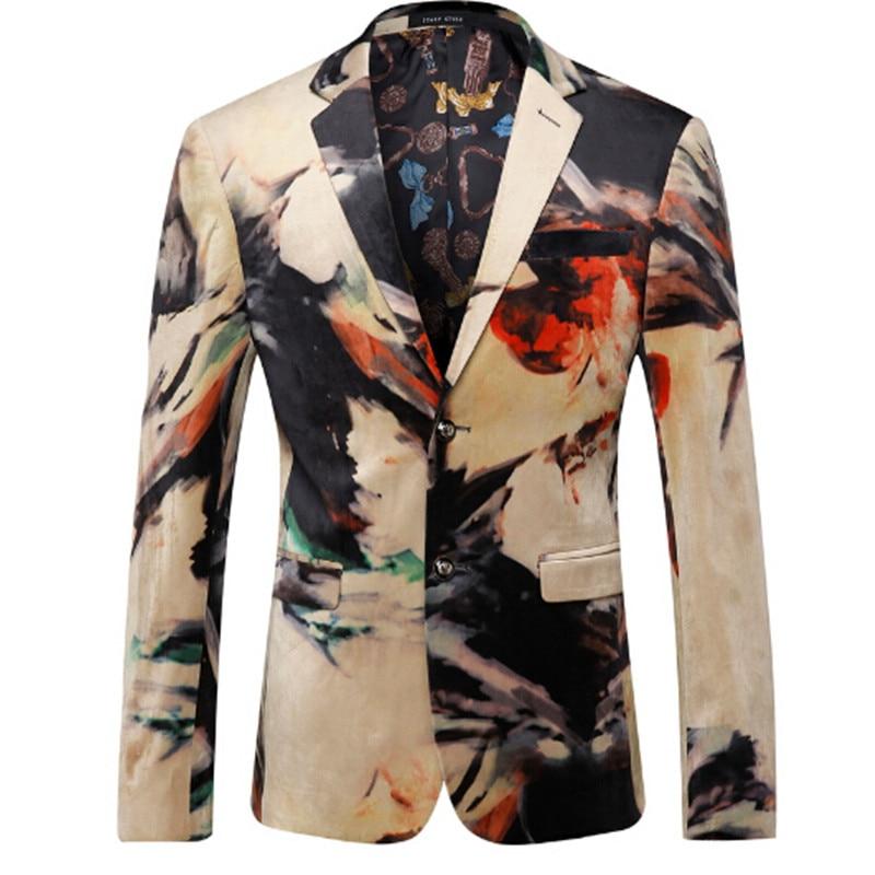 2016 Surrealism Men Blazers Fashion Casual Designer Brand Blazer Masculino ...