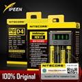 100% Original Nitecore D4 D2 Novo I4 I2 carregador de bateria li-ion de carga 18650 14500 26650 16340 aa aaa lcd inteligente batterie