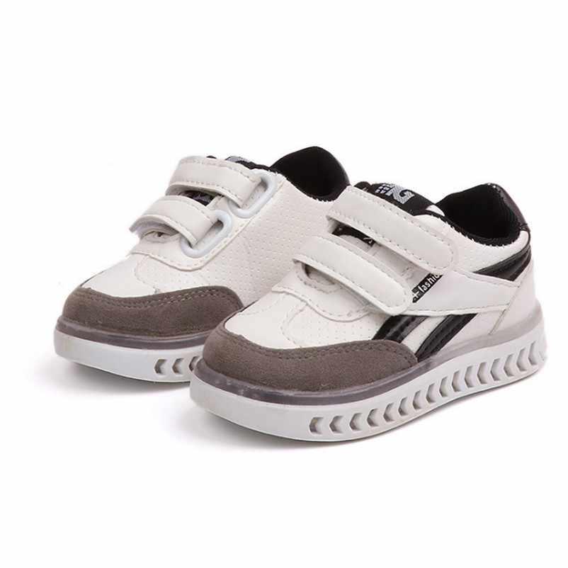 ילדים פעוט Led טעינת זוהר סניקרס ילדי וו לולאה אופנה זוהר נעלי בנות בני נעלי ילדים