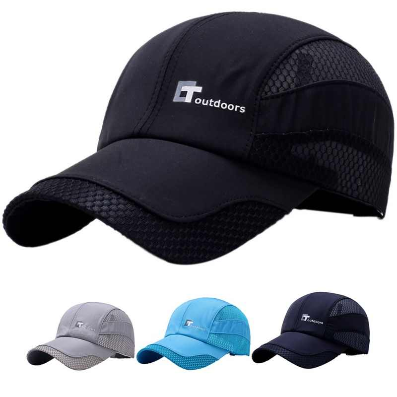 93a9ee4341f Summer Quick drying Men Running Hat Breathable Mesh Cap Sport Cap Quick Dry  Hat Climbing Running