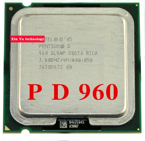 Prix pour Garantie à vie Pentium D 960 3.6 GHz 4 M 800 Dual Core processeurs de bureau CPU Socket LGA 775 broches Ordinateur