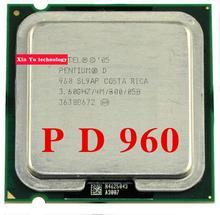 Ömür boyu garanti Pentium D 960 3.6 GHz 4 M 800 Çift Çekirdekli masaüstü işlemciler CPU Soket LGA 775 pin Bilgisayar