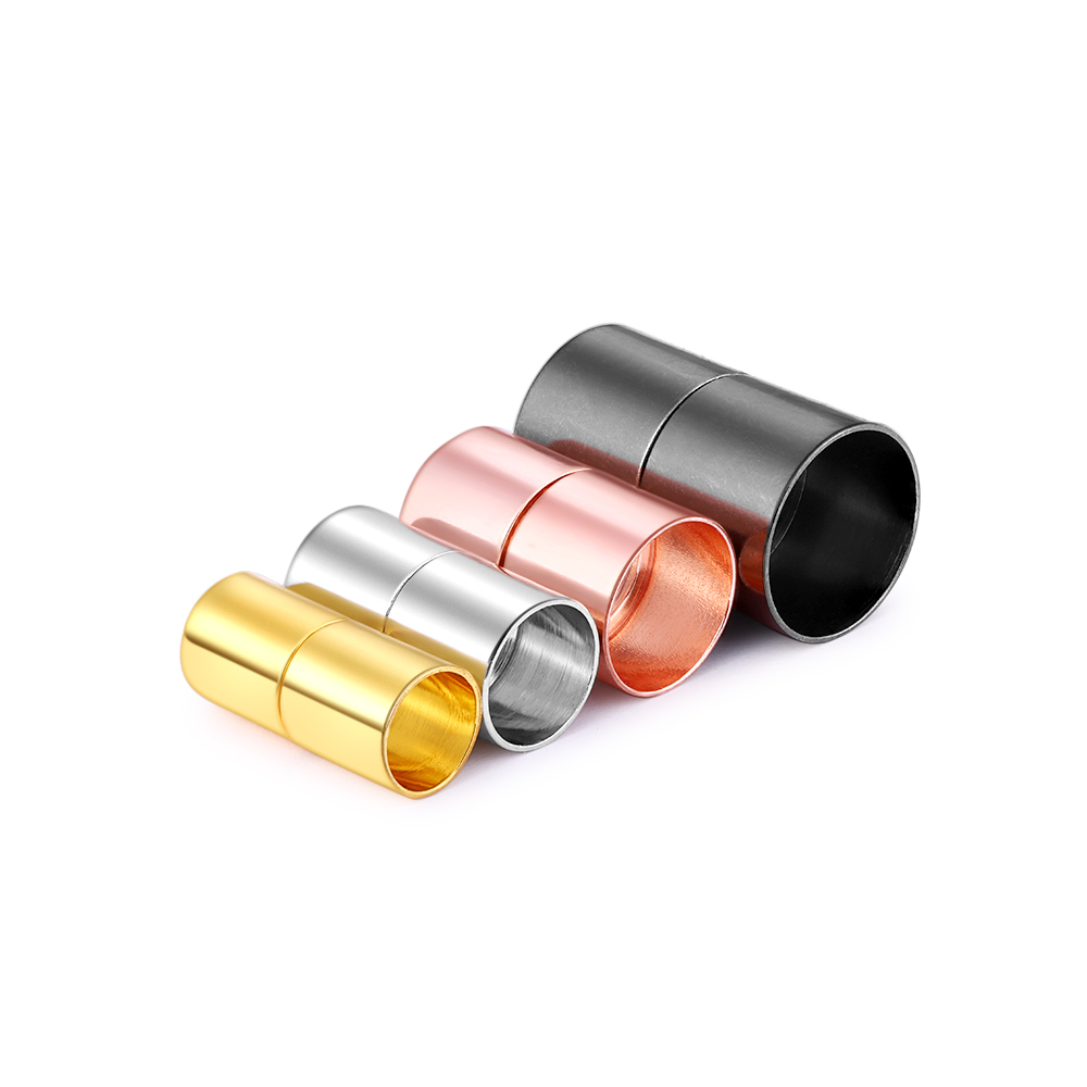 10pcs/lot Gold Magnetic Clasps Connector Fit 3 4 5 6 7 8 10 12 14 15mm Leather Cord Bracelet Connectors For DIY Jewelry Making