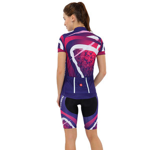 Image 3 - Women Cycling Clothing Set 2020 Summer Pro Team MTB Bike Clothes Ladies Cycling Jersey Sets Anti UV Bicycle Helmet Cuffs Gloves