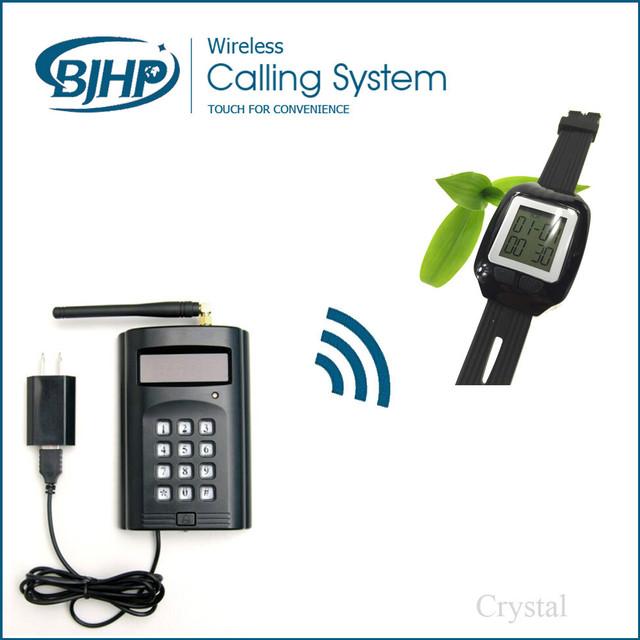 1 teclado y 5 relojes sencillo restaurante del hotel inalámbrico sistema de llamada de cola de gestión clínica del hospital