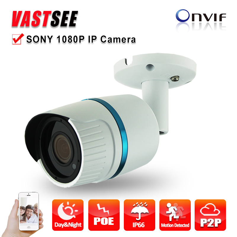 ФОТО POE 1080P IP camera full hd sony IMX323 Sensor outdoor ONVIF2.4 2.8mm lens option Fixed Bullet Night Vision camaras de seguridad