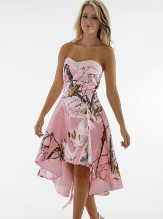 Buy sweetheart realtree pink camo prom for Camo and pink wedding dresses