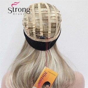 Image 5 - StrongBeauty Medium Blonde Highlights Natuurlijke Lichte Golven Heat Ok Synthetische HOOFDBAND Pruik KLEUR KEUZES