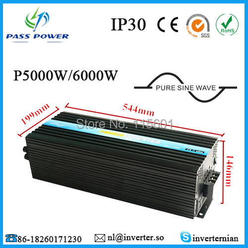 CE,ROHS,GMC Approved, one year warranty, solar panels inverters 6000w, off grid pure sine wave image