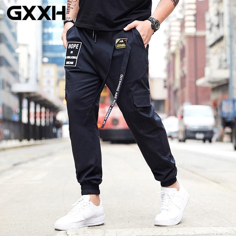 GXXH grande taille tendance pantalon hommes décontracté ample coupe Stretch taille pantalon grande taille 6XL 140 KG mâle été pantalon de jogging droit